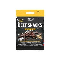 Real On The Go Beef Snacks, Salt and Pepper