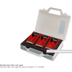 Red Creek Väska Med 3 ST Rillverktyg Varm