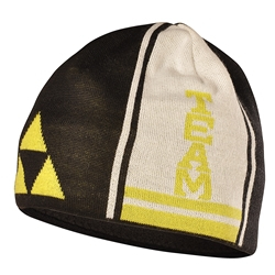 Fischer Beanie Team Black / Yellow